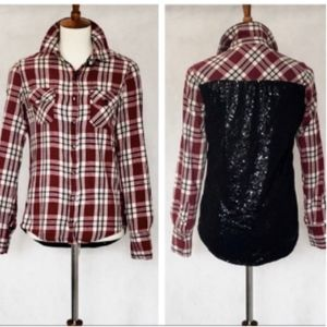 Blank NYC Plaid Flannel with Sequin Back